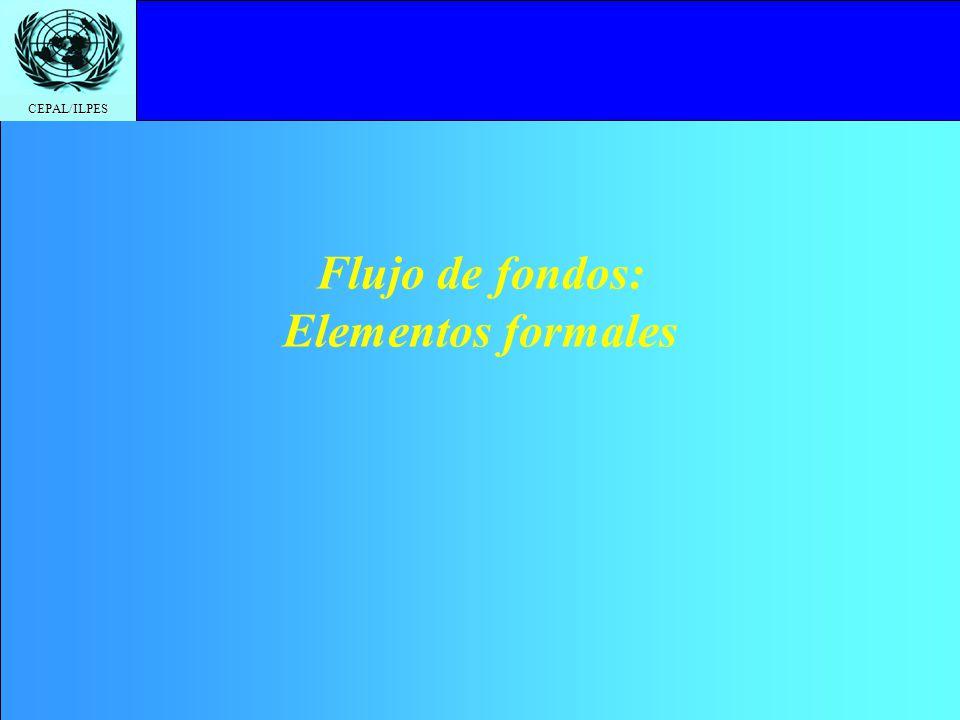 Flujo de fondos: Elementos formales