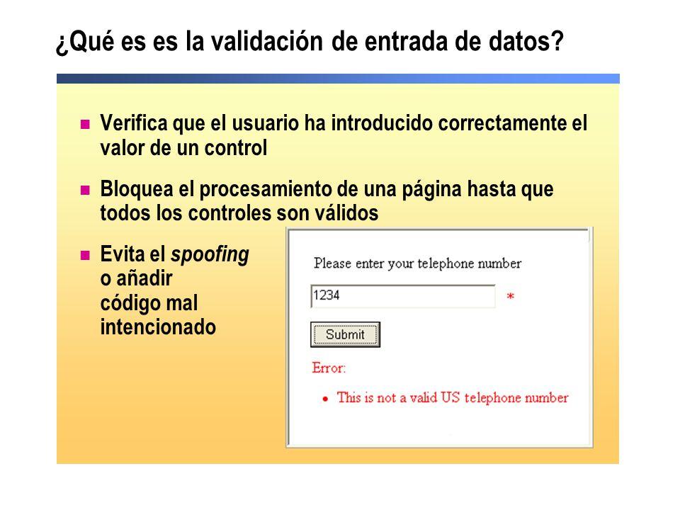 ¿Qué es es la validación de entrada de datos