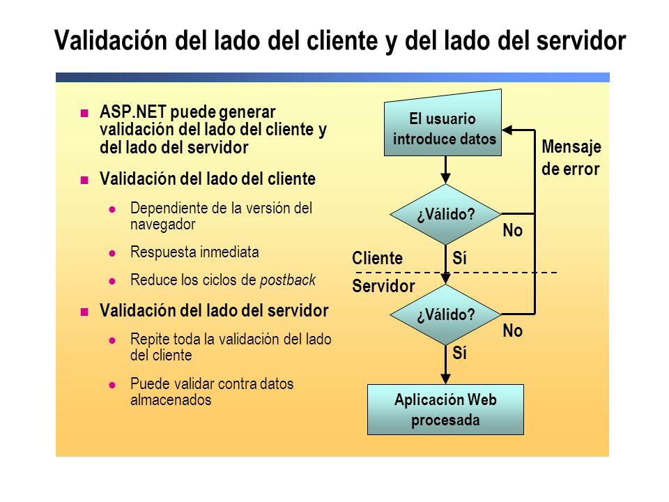 Validación del lado del cliente y del lado del servidor