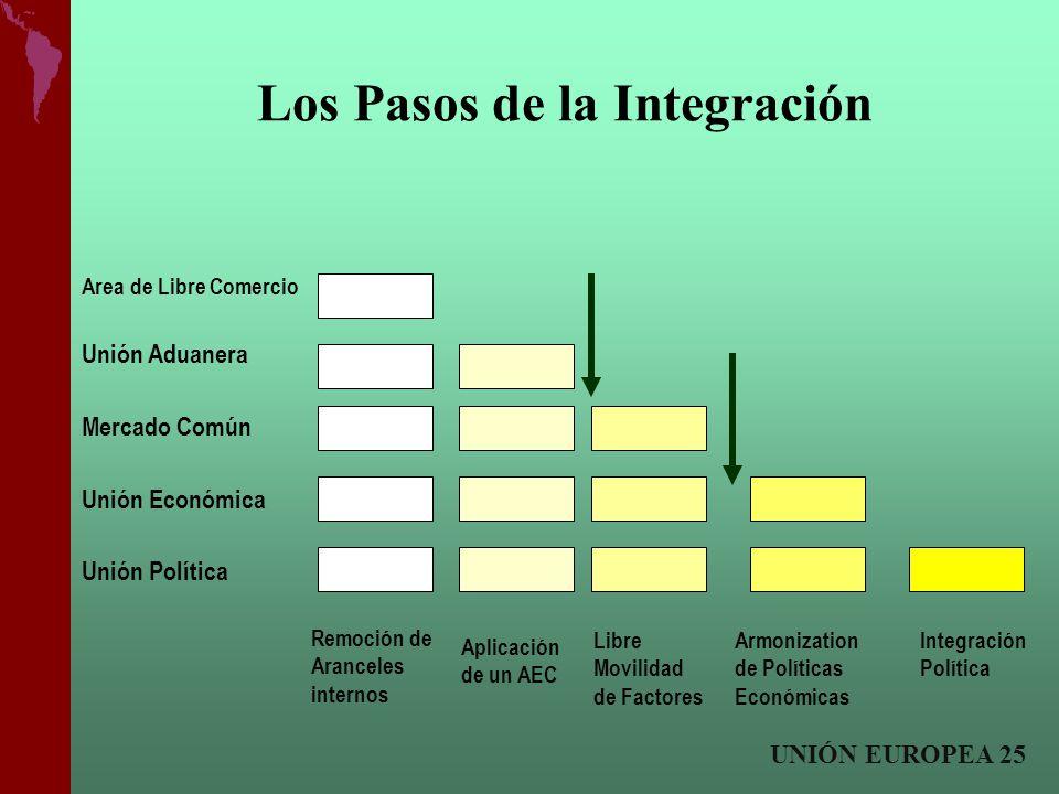 Los Pasos de la Integración