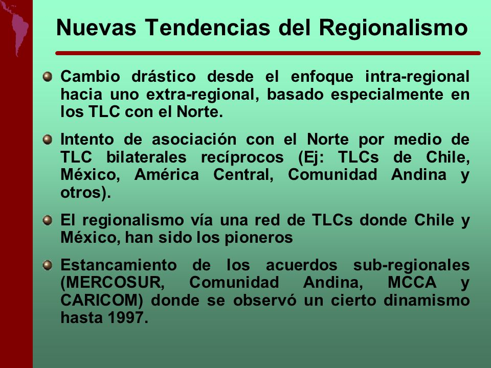 Nuevas Tendencias del Regionalismo