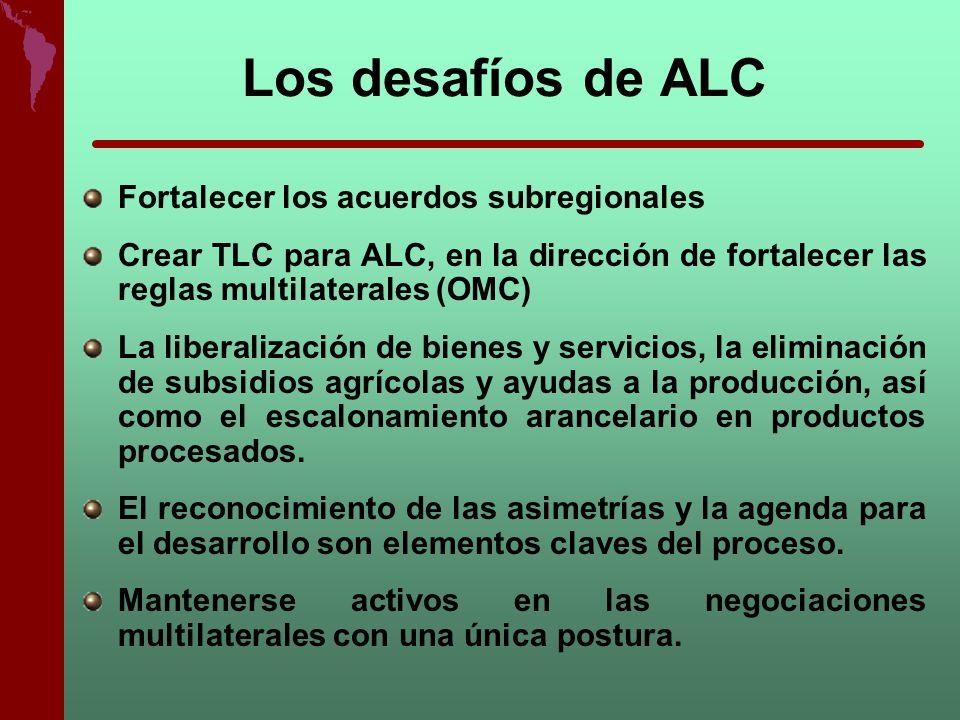 Los desafíos de ALC Fortalecer los acuerdos subregionales