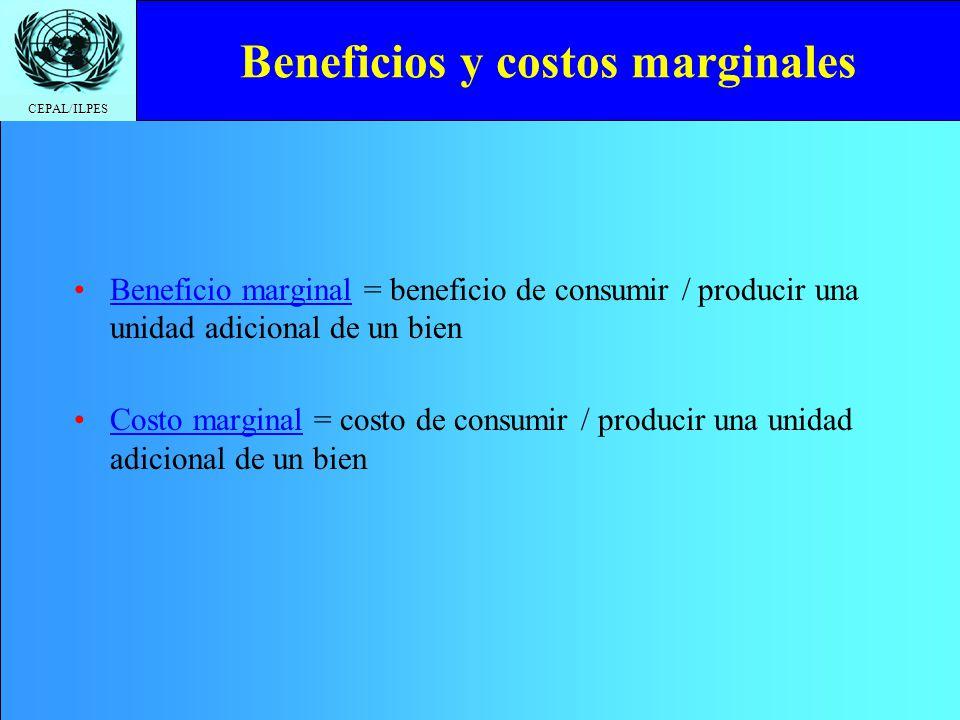 Beneficios y costos marginales