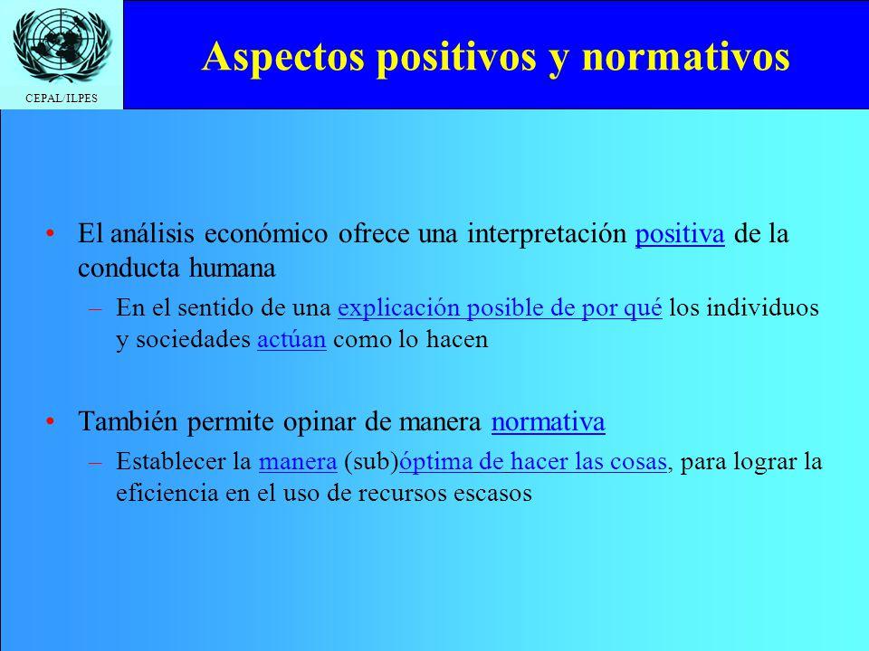 Aspectos positivos y normativos