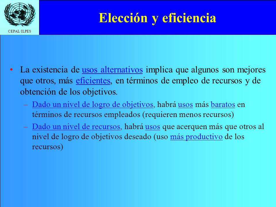 Elección y eficiencia