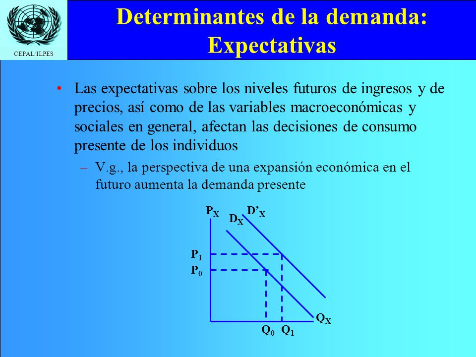 Determinantes de la demanda: Expectativas