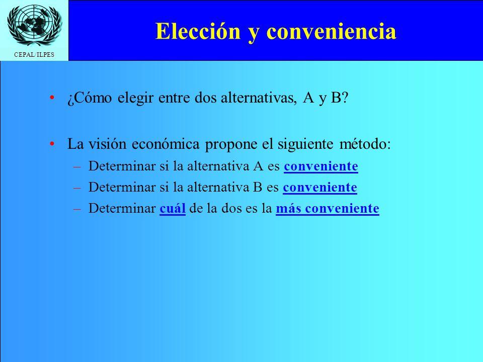 Elección y conveniencia