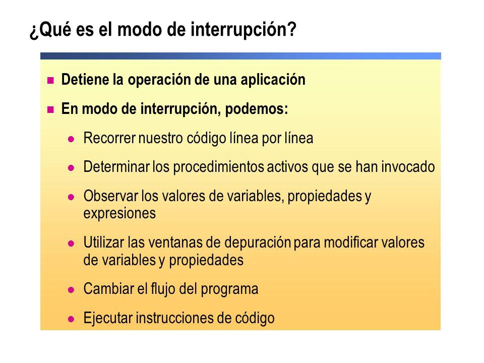 ¿Qué es el modo de interrupción