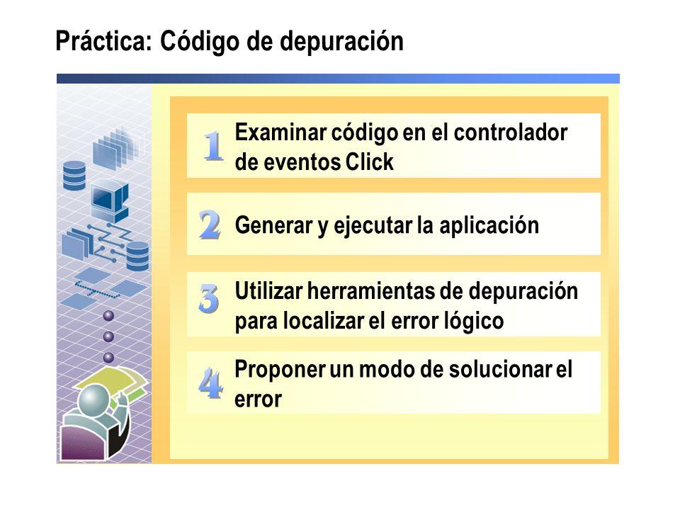 Práctica: Código de depuración