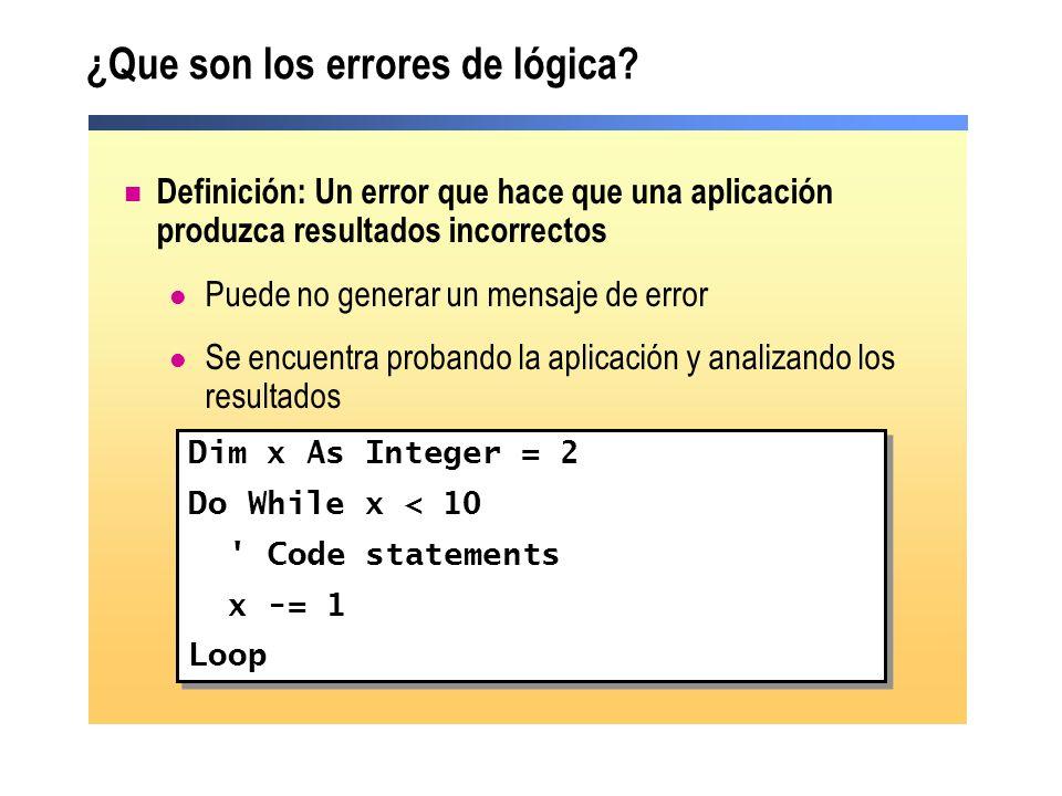 ¿Que son los errores de lógica