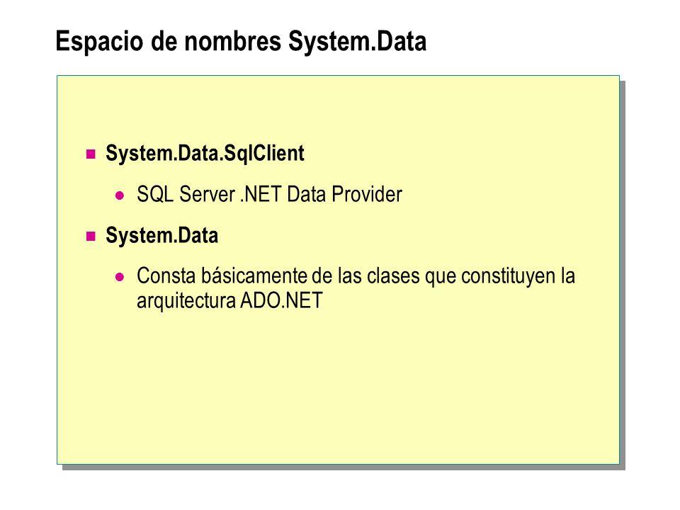 Espacio de nombres System.Data