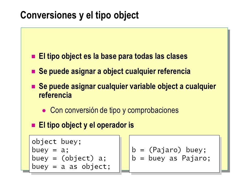 Conversiones y el tipo object