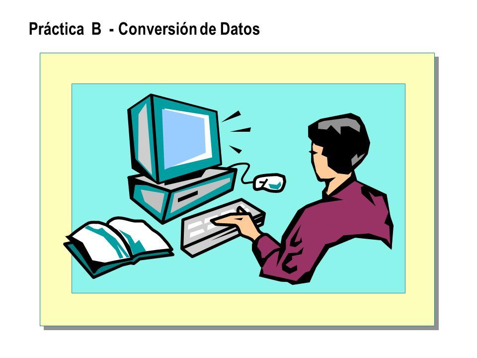 Práctica B - Conversión de Datos