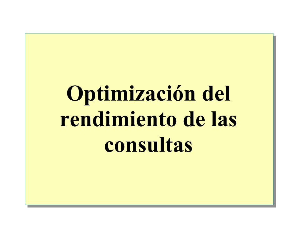 Optimización del rendimiento de las consultas