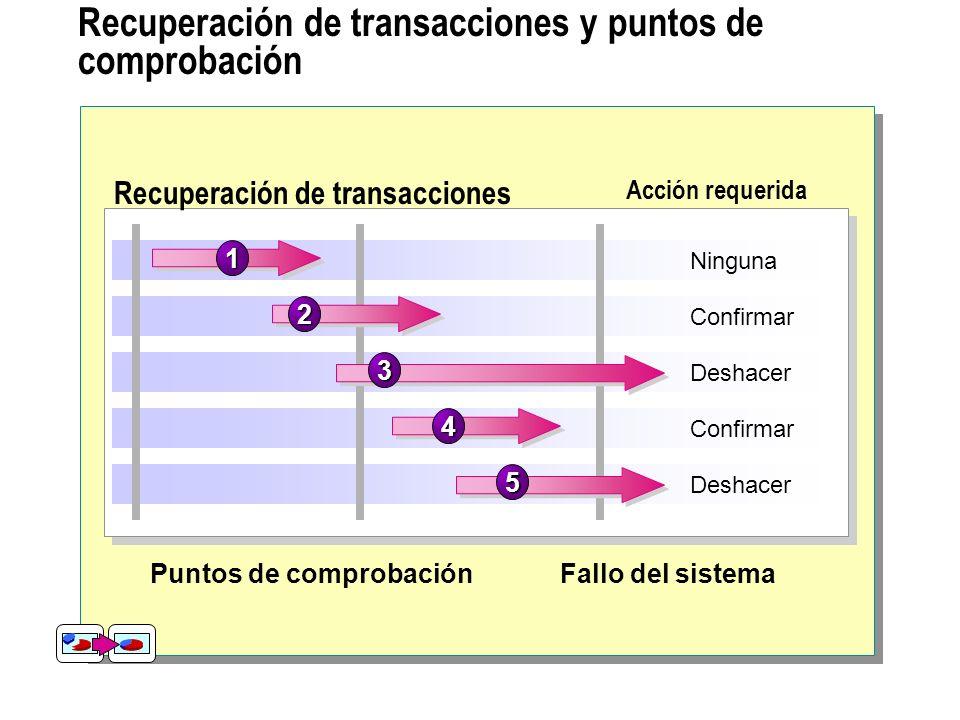 Recuperación de transacciones y puntos de comprobación