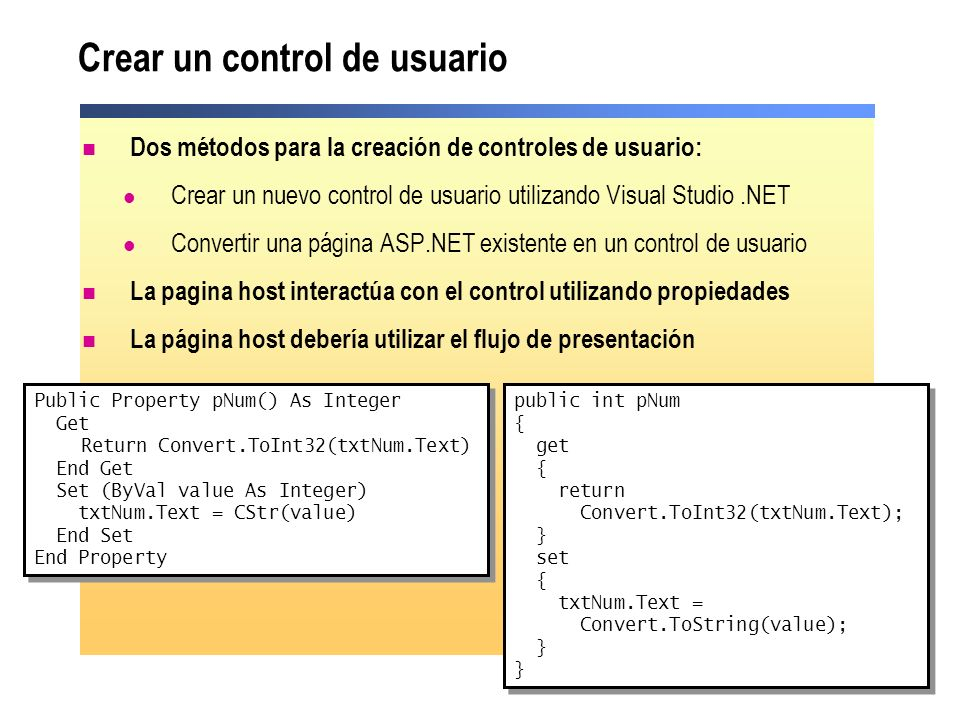 Crear un control de usuario
