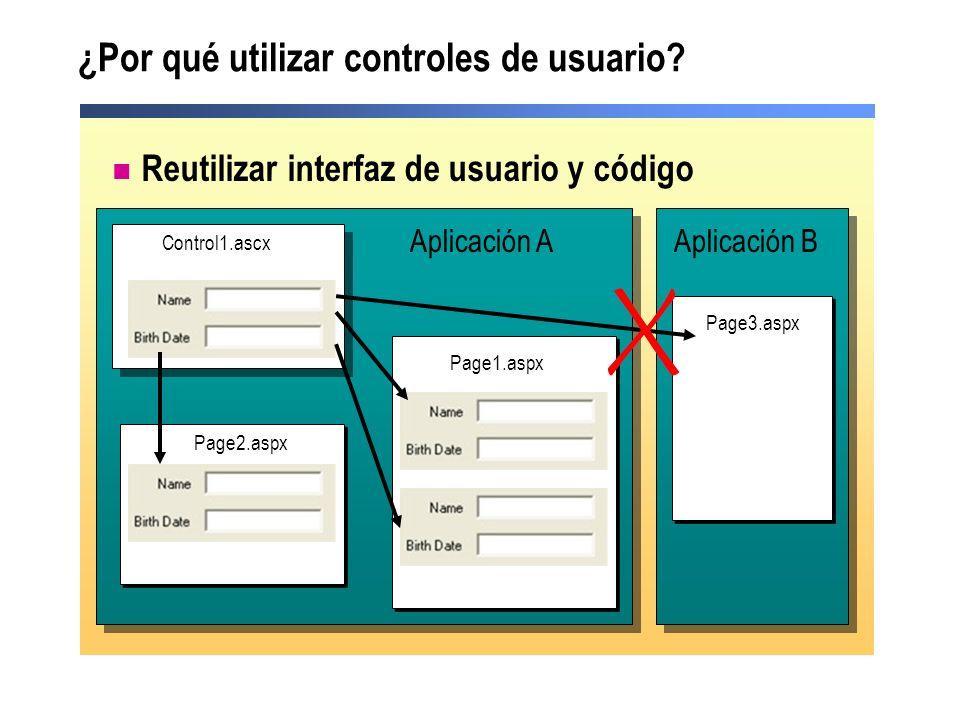 ¿Por qué utilizar controles de usuario