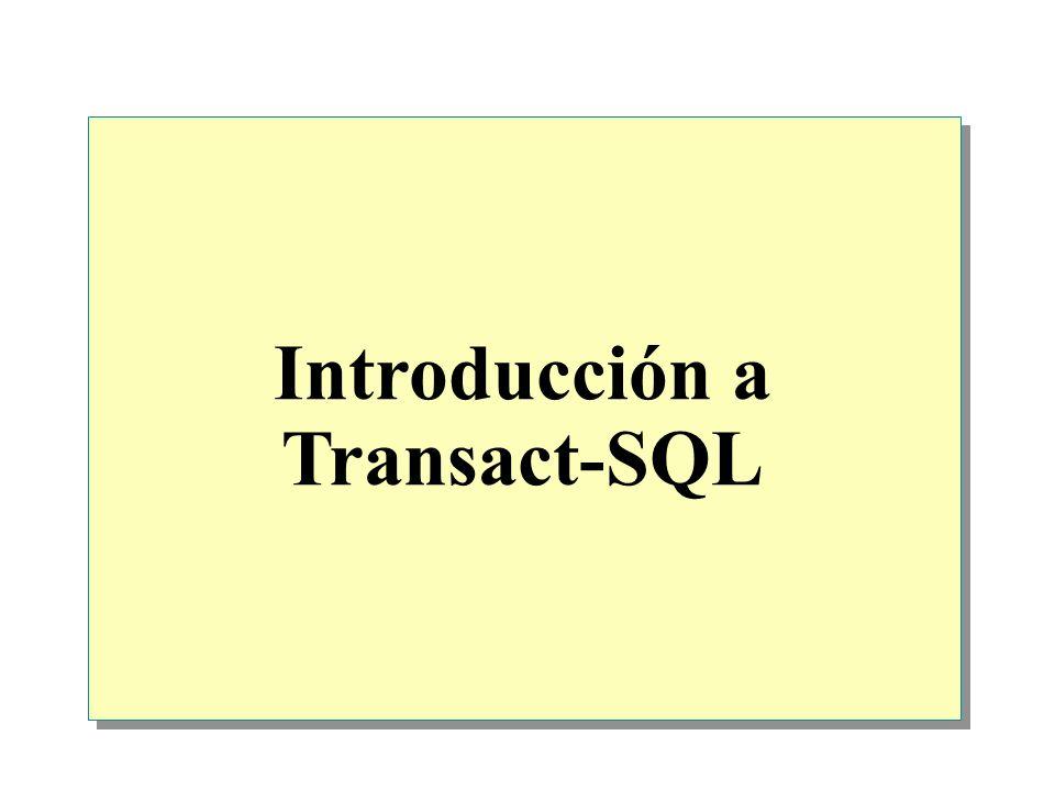 Introducción a Transact-SQL