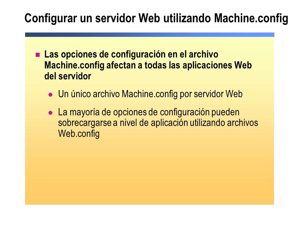 Configurar un servidor Web utilizando Machine.config