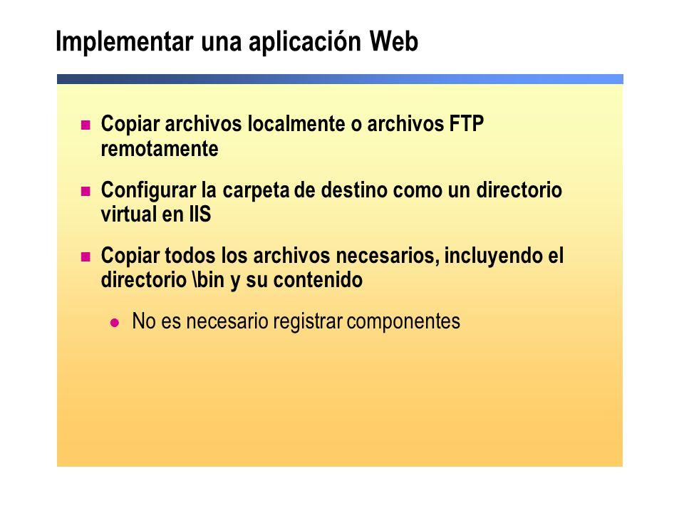Implementar una aplicación Web
