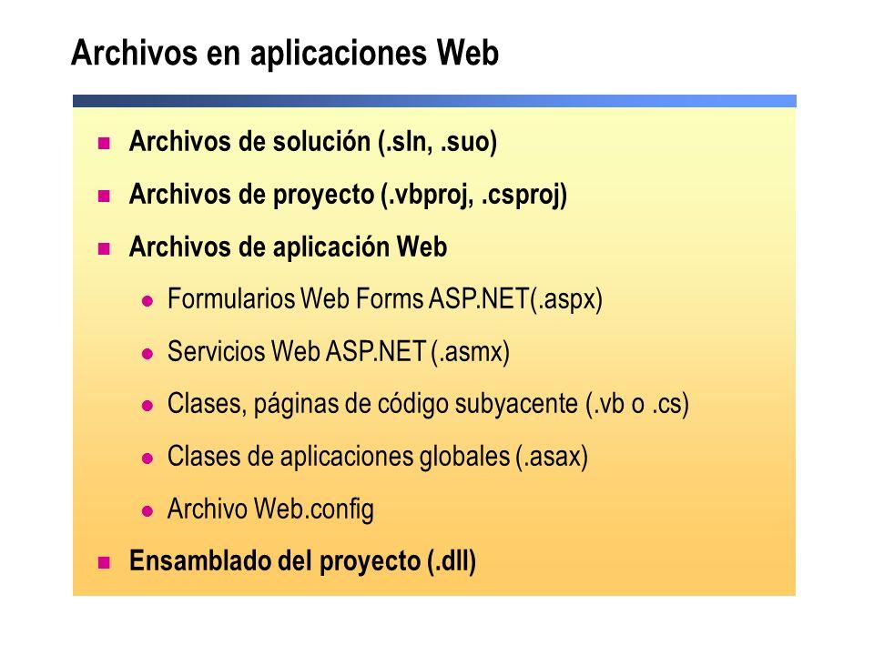 Archivos en aplicaciones Web
