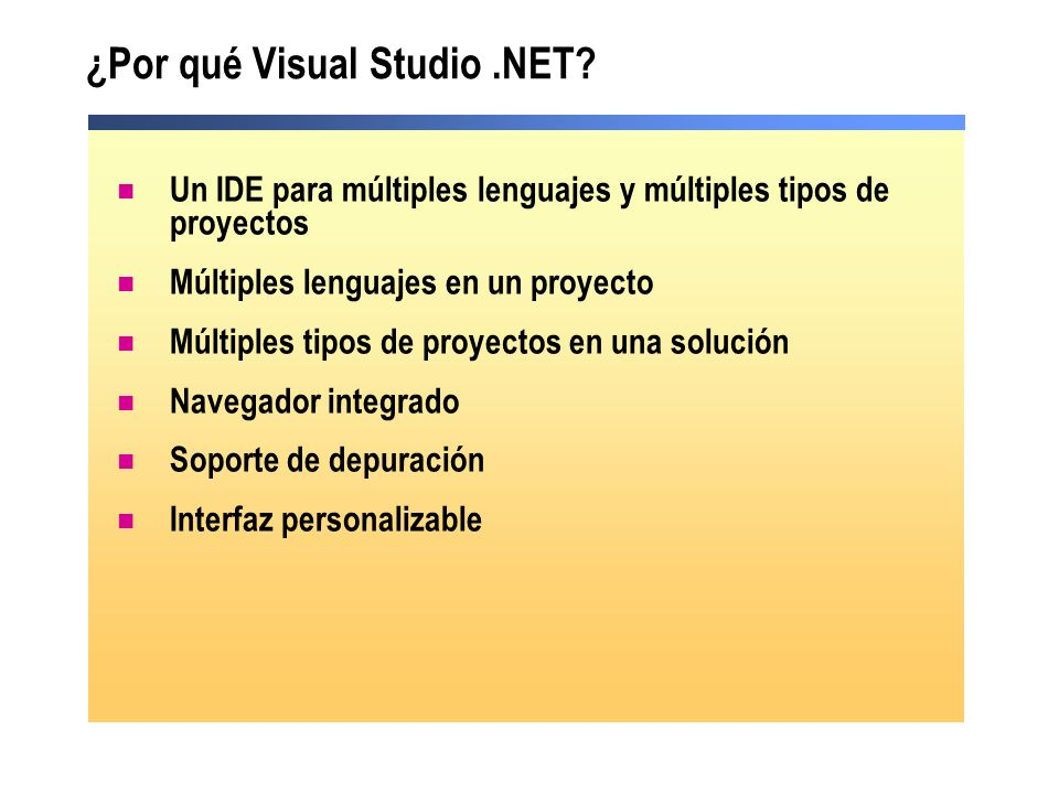¿Por qué Visual Studio .NET