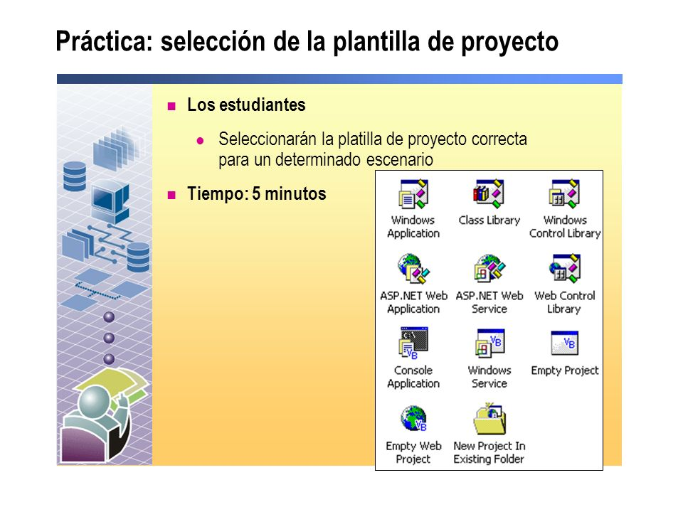 Práctica: selección de la plantilla de proyecto