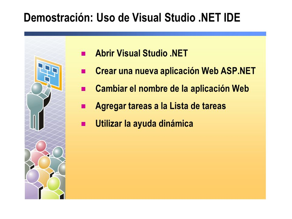 Demostración: Uso de Visual Studio .NET IDE