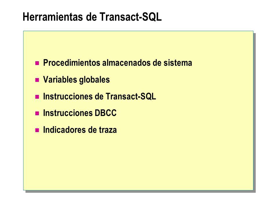 Herramientas de Transact-SQL