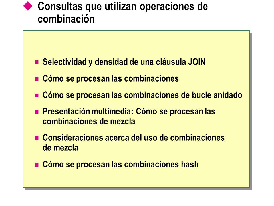 Consultas que utilizan operaciones de combinación