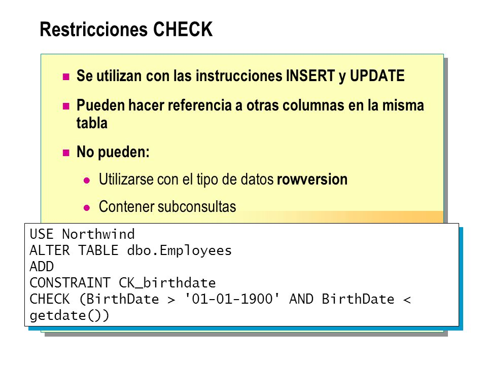 Implementaci n de la integridad de datos ppt descargar - Alter table add constraint primary key ...
