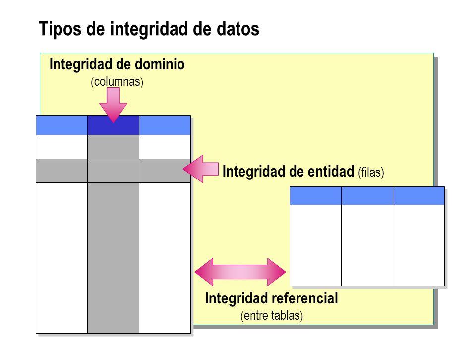 Tipos de integridad de datos