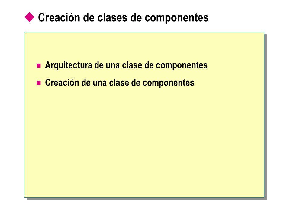 Creación de clases de componentes