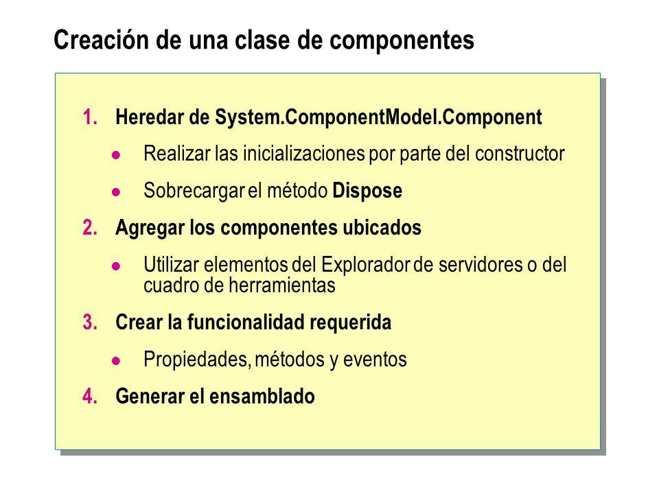 Creación de una clase de componentes