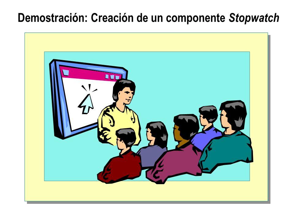 Demostración: Creación de un componente Stopwatch