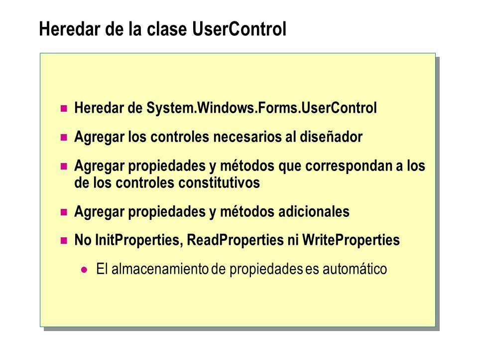 Heredar de la clase UserControl