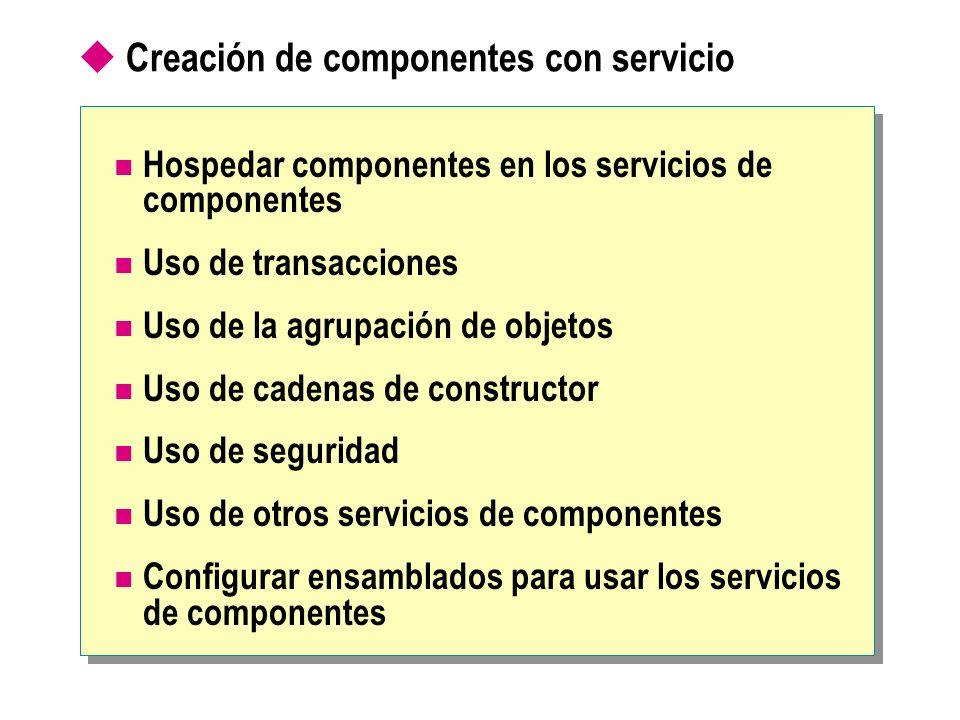 Creación de componentes con servicio