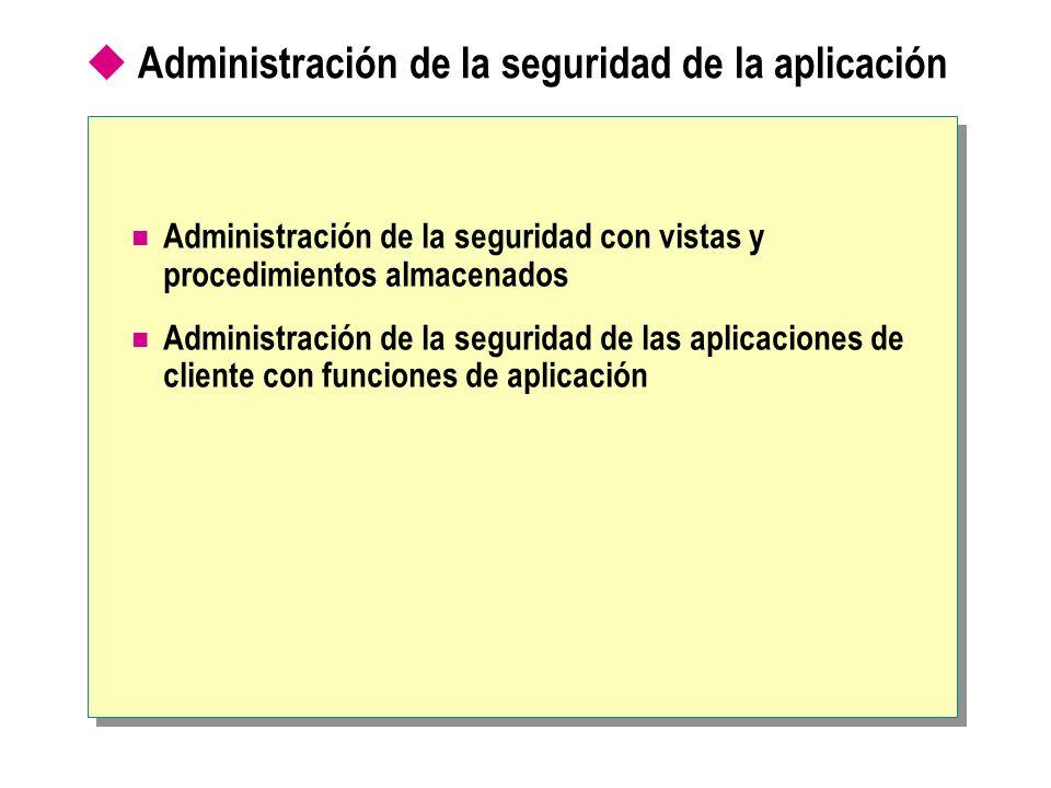 Administración de la seguridad de la aplicación