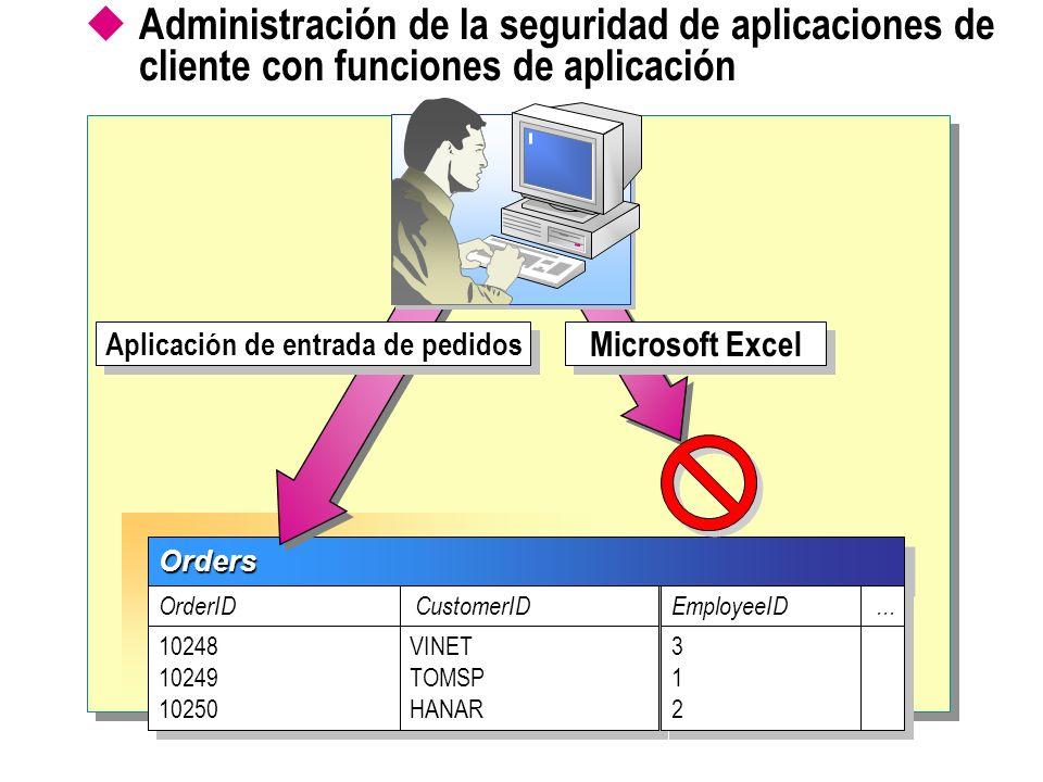 Aplicación de entrada de pedidos