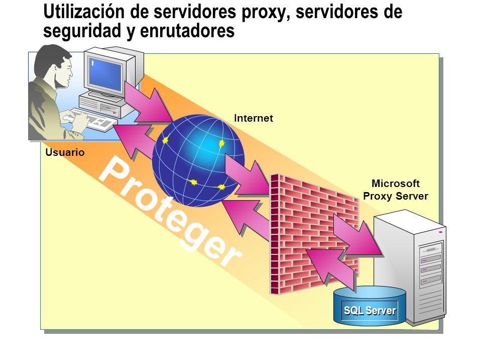 Utilización de servidores proxy, servidores de seguridad y enrutadores