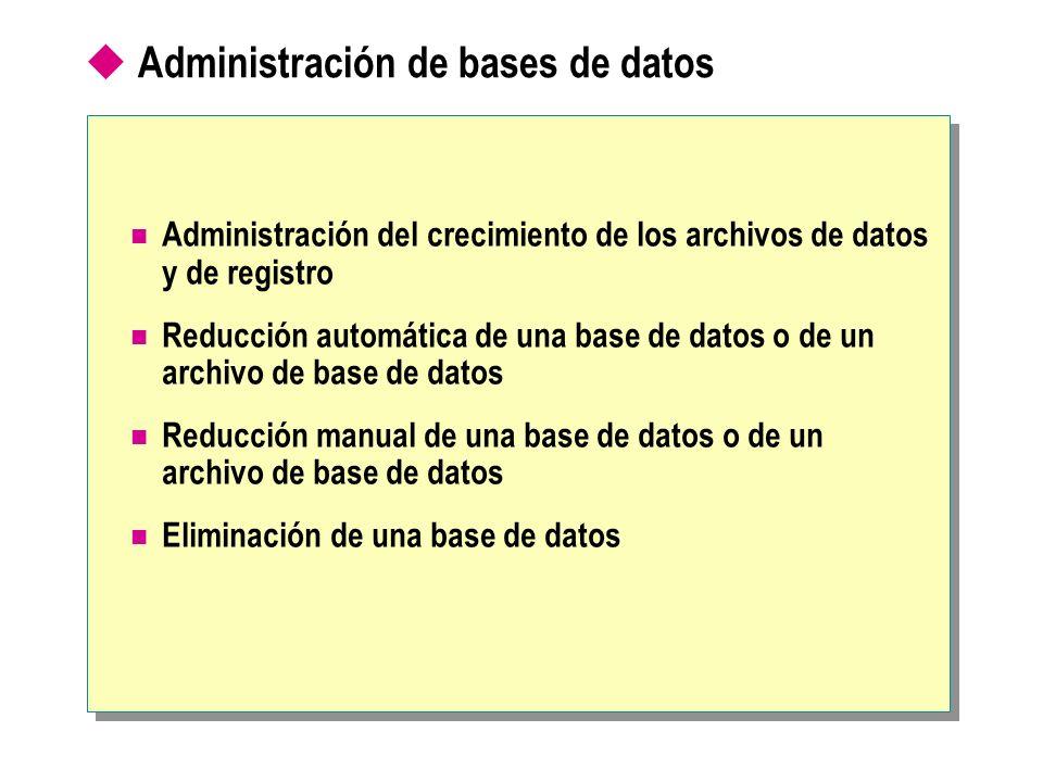 Administración de bases de datos
