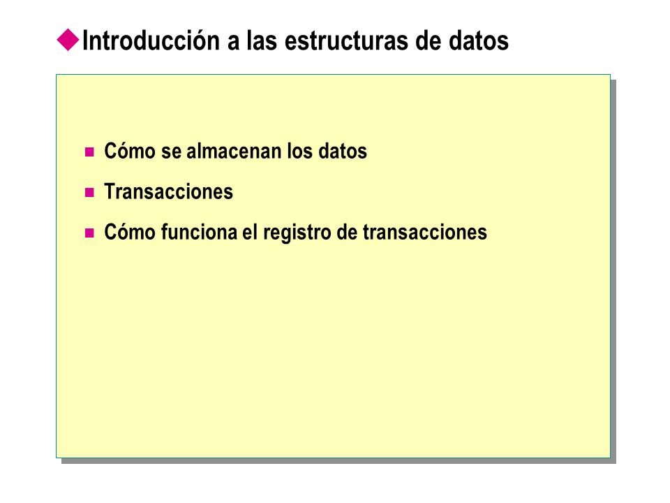 Introducción a las estructuras de datos