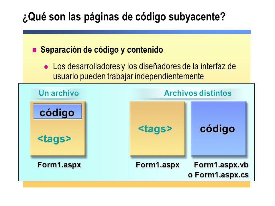 ¿Qué son las páginas de código subyacente