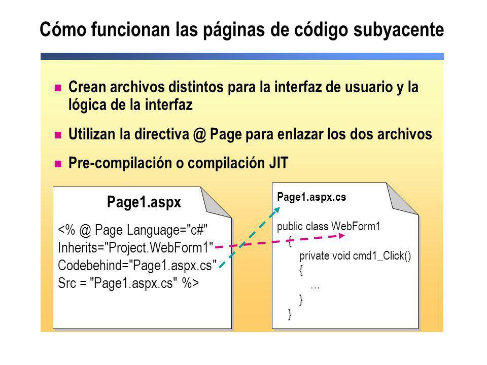 Cómo funcionan las páginas de código subyacente
