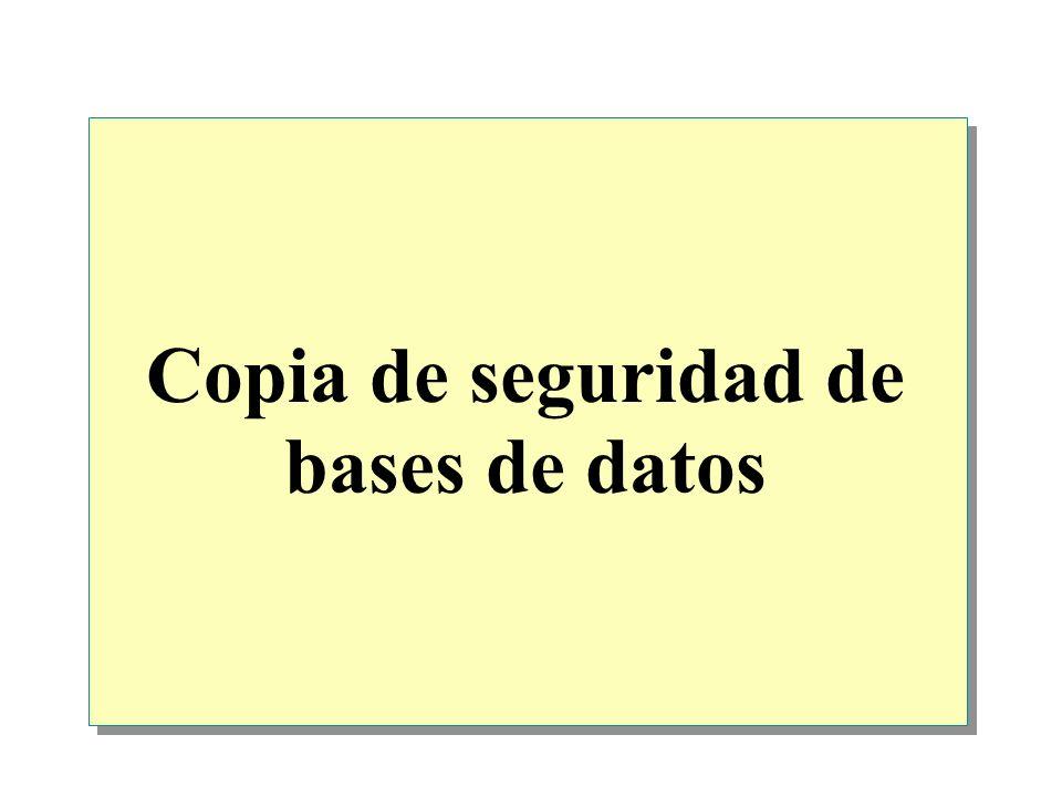 Copia de seguridad de bases de datos