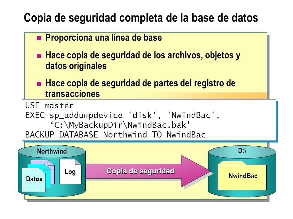 Copia de seguridad completa de la base de datos