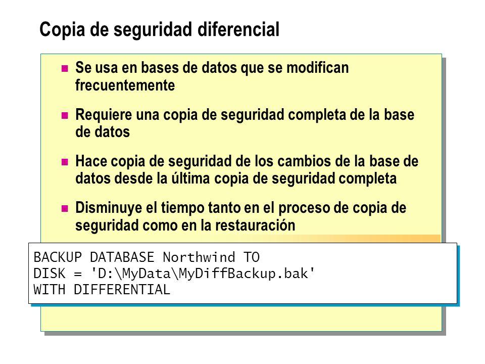 Copia de seguridad diferencial