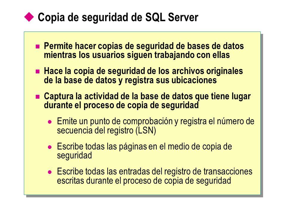 Copia de seguridad de SQL Server