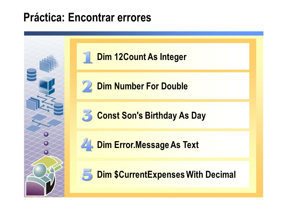 Práctica: Encontrar errores