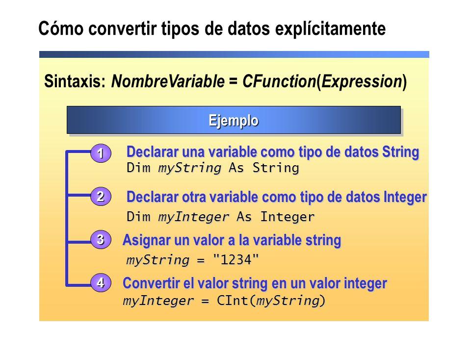 Cómo convertir tipos de datos explícitamente